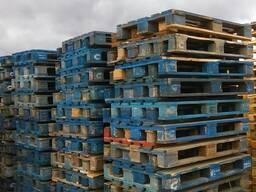 Поддон деревянный, 1200*800, синий, до 2000кг, б/у