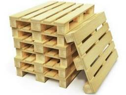 Поддоны деревянные новые с фитосанитарной обработкой.