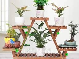 Подставки, опоры, полки, стойки для цветов и растений.