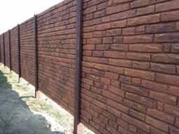 Декорирование бетонных заборов