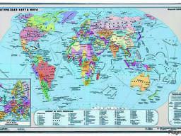 Покрытие настольное «Карта мира» (380 х 590 мм)