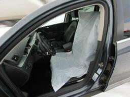 Полиэтиленовые чехлы для сидений белые (эконом), размер 79 х 130 см (10 мкрн), рулон 500 ш