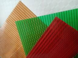 Поликарбонат для козырьков, навесов, теплиц 3, 4, 6, 8мм