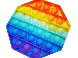 Поп ит (Pop it) разноцветный Восьмиугольник