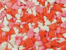 Посыпка Сердечки 50 г красные/белые/розовые