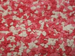 Посыпка Сердечки (мини) 50 г красные/белые/розовые
