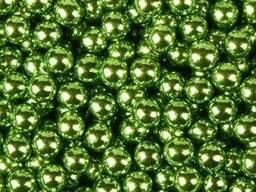 Посыпка шарики Хром зеленые 5 мм, 50 г