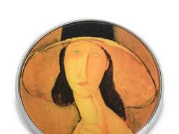 Pr-M29MO Зеркальце Портрет Жанны Эбютерн в большой шляпе Амедео Модильяни Museum. Parastone