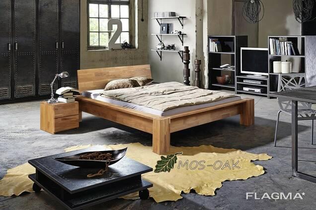 Предлагаем кровати из массива дуба в скандинавском стиле