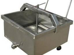 Пресс тележка для сыра на 250 литров из нержавеющей стали
