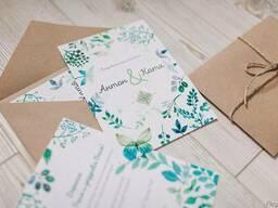 Приглашения свадебные