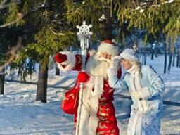Пригласите Дедушку Мороза и его внучку на свой праздник