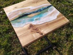 Прикроватный/придиванный столик-река лофт