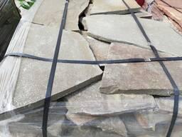 Природный камень песчаник серо-зеленый 3 см