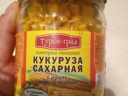 Консервированная кукуруза. ОАО Туровщина.