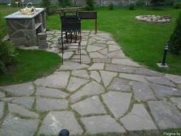Продажа натуральный камень-песчаник, рулонный газон,