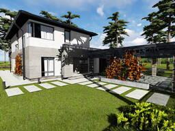 Проект дома, визуализация, рабочее проектирование