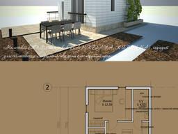 Проект маленького дома из каркаса, продам проект