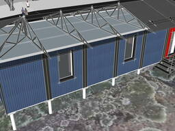 Проект офиса 100 м2, проект склада-офиса, сборно-разборные