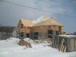 Проекты домов из бруса, бревна с мансардой