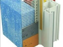 Профиль примыкающий оконный ПВХ с сеткой 6мм, 2,4м