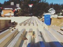 Профилированный брус естественной влажности (погонаж) 142х14 - фото 1