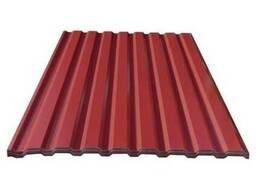 Профнастил (металлопрофиль) C8,1,2х2,0м. Бордовый.