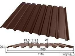 Профнастил МП-20 0,5мм коричневый