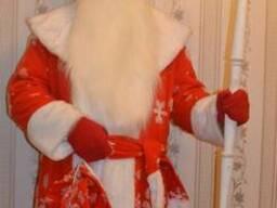 Прокат костюм Деда Мороза красного цвета