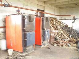 Промышленный котел на дровах