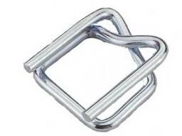 Пряжка для ленты проволочная оцинкованная до 16 мм.