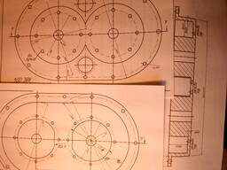 Рабочие чертежи изобретения РМ-5 - насос, компрессор, привод