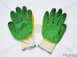 Перчатки трикотажные с 2-м латексным обливом