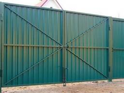 Распашные ворота (металлические и сэндвич панели). Рассрочка