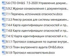 Разработка шаблонов системы менеджмента здоровья и безопасности СТБ ISO 45001-2020