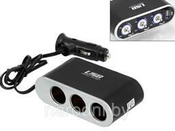 Разветвитель прикуривателя SiPL с выключателями на 3 выхода+USB