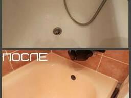 Реставрация ванн - цветная колеровка ванн