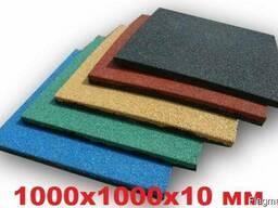 Резиновая плитка 1000x1000x10 мм