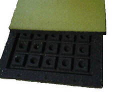 Резиновая плитка Ecover 500*500*40мм типII