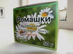 Ромашки цветки, цельное сырье 50 г в пачке