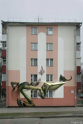 Роспись торцевых фасадов жилых домов