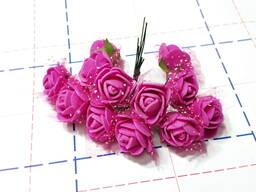 Роза фоамиран 20мм 12шт/уп