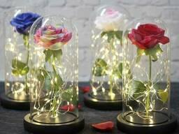 """Роза в колбе с подсветкой """"Единственная Моя"""""""