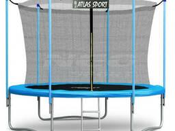 Батут Atlas Sport 312 см c внутренней сеткой и лестницей BLUE