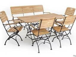 Садовая мебель (набор: стол, скамья, 4 стула)