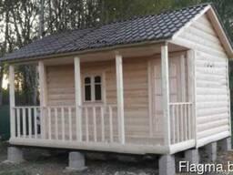 Садовый домик СД08 (6х6 метра) с террасой
