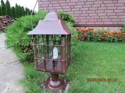 Садовый кованый фонарь