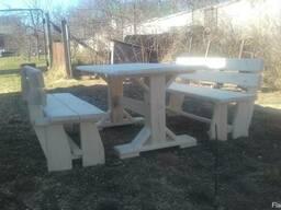Садовый стол с табуретками лавками на заказ