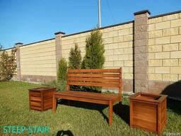 Садовые столы, скамьи, мосты, лежаки из дерева - фото 3