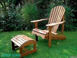Садовые столы, скамьи, мосты, лежаки из дерева - фото 4